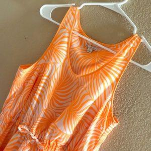 Bright orange, Gap Hawaiian sundress